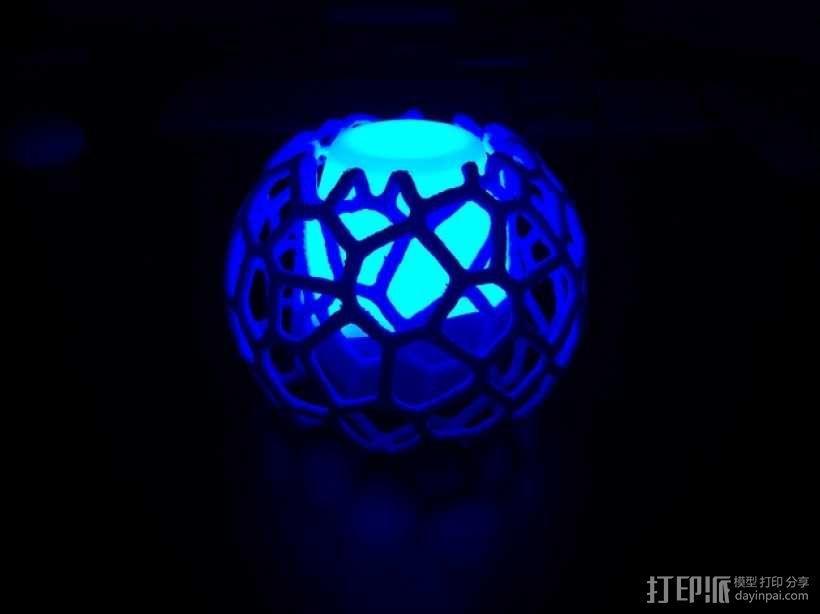 蜂巢形灯罩 3D模型  图4