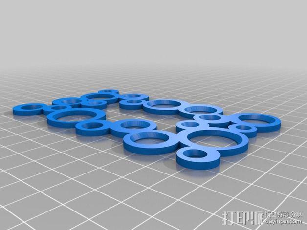 装饰性开关板 3D模型  图3