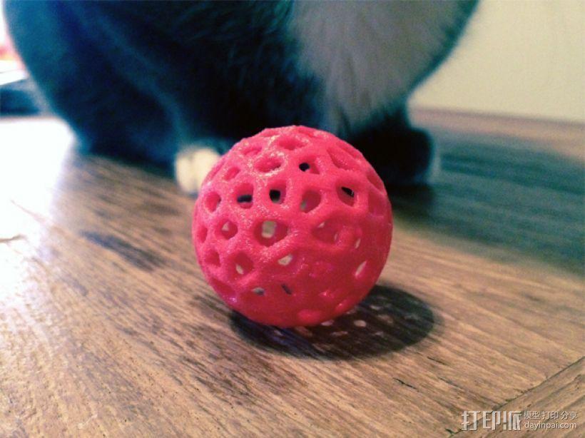 泰森多边形镂空小球 3D模型  图1