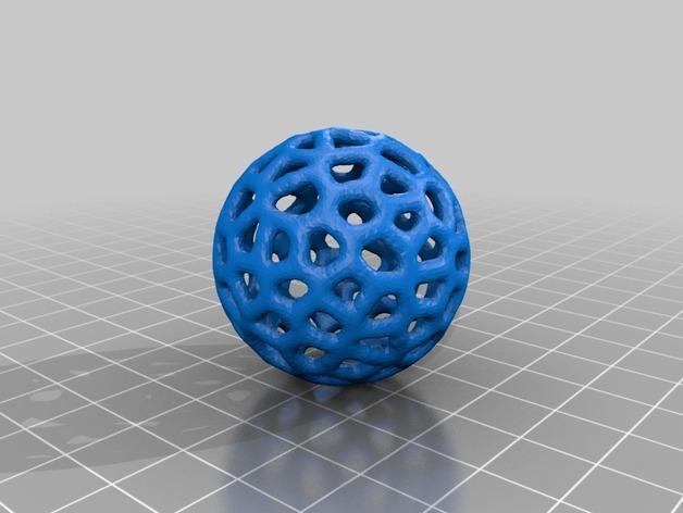 泰森多边形镂空小球 3D模型  图2