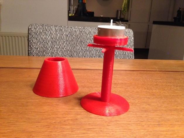 茶蜡灯/台灯 3D模型  图3