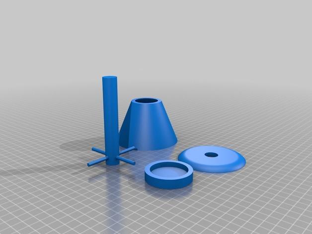 茶蜡灯/台灯 3D模型  图4
