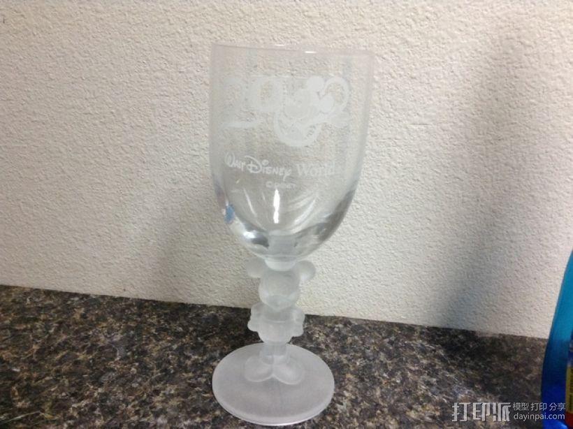 米奇玻璃杯 3D模型  图1