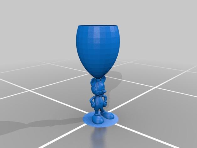 米奇玻璃杯 3D模型  图2