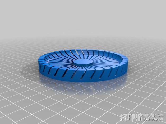 圆形卡片夹/名片夹 3D模型  图2