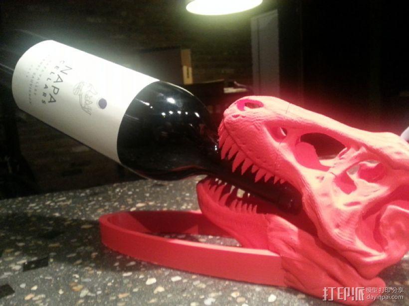 恐龙形葡萄酒瓶支架 3D模型  图1
