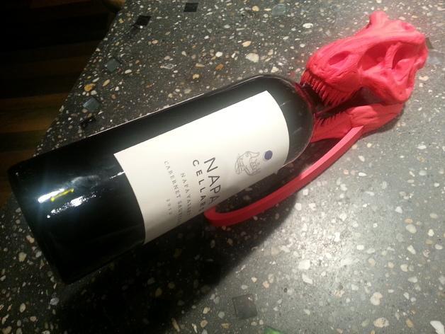 恐龙形葡萄酒瓶支架 3D模型  图3