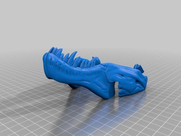 恐龙形葡萄酒瓶支架 3D模型  图5