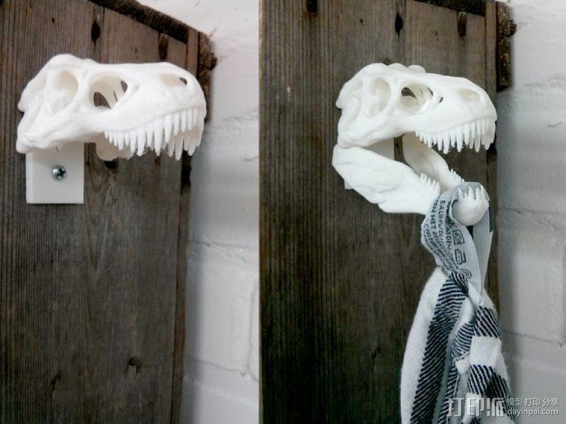 恐龙形毛巾架 3D模型  图1