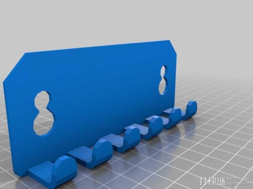 壁挂式牙刷架 3D模型  图2