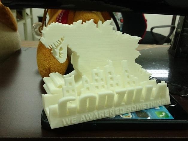 哥斯拉名片盒 3D模型  图2