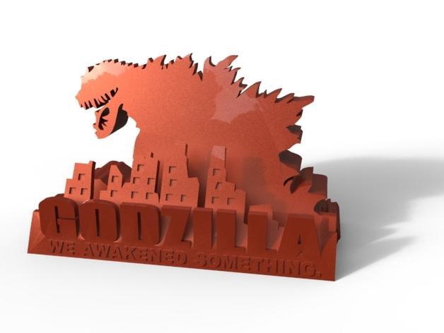 哥斯拉名片盒 3D模型  图1