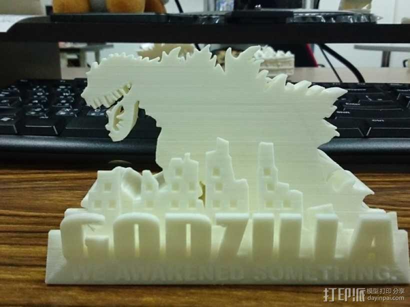 哥斯拉名片盒 3D模型  图3