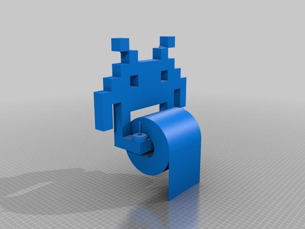 入侵者厕纸架 3D模型  图2