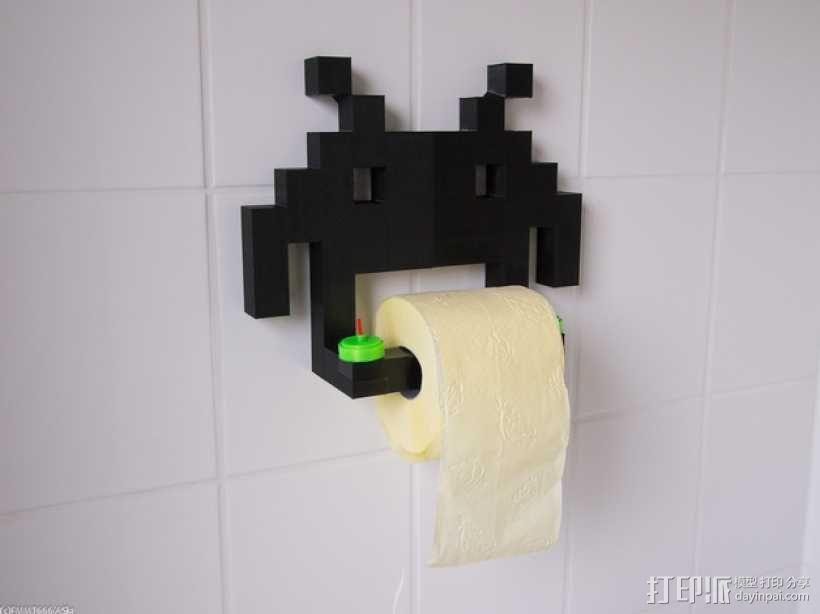 入侵者厕纸架 3D模型  图1