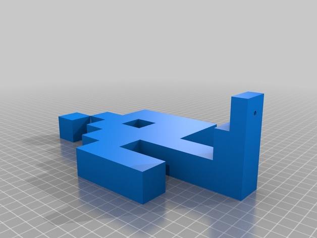入侵者厕纸架 3D模型  图7