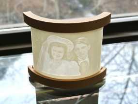 透光浮雕物品架 3D模型