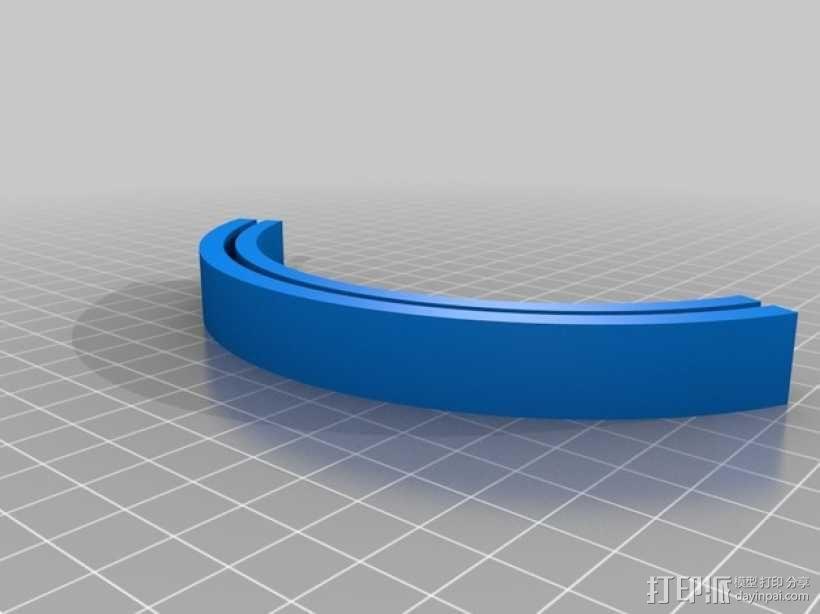 透光浮雕物品架 3D模型  图3