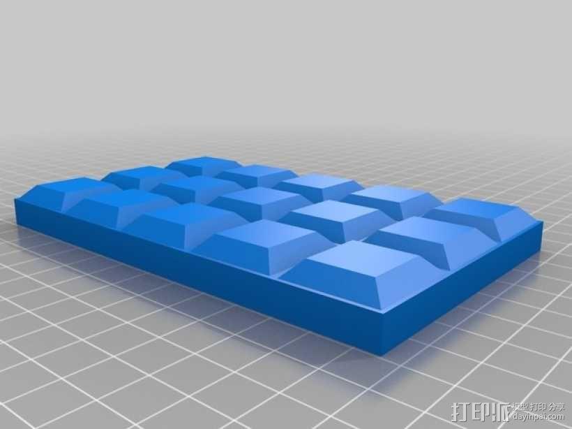 巧克力插座盖 3D模型  图3