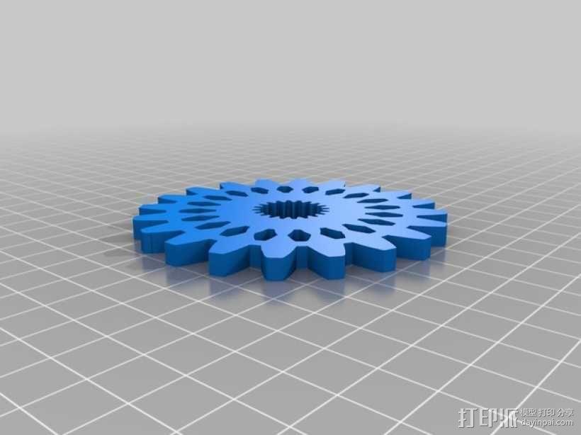 齿轮形杯垫 3D模型  图5