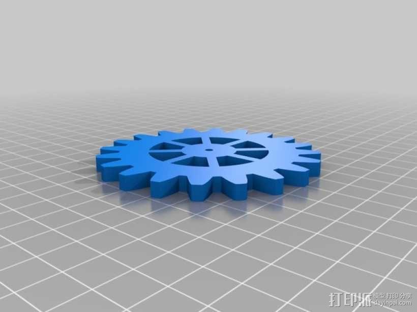 齿轮形杯垫 3D模型  图7