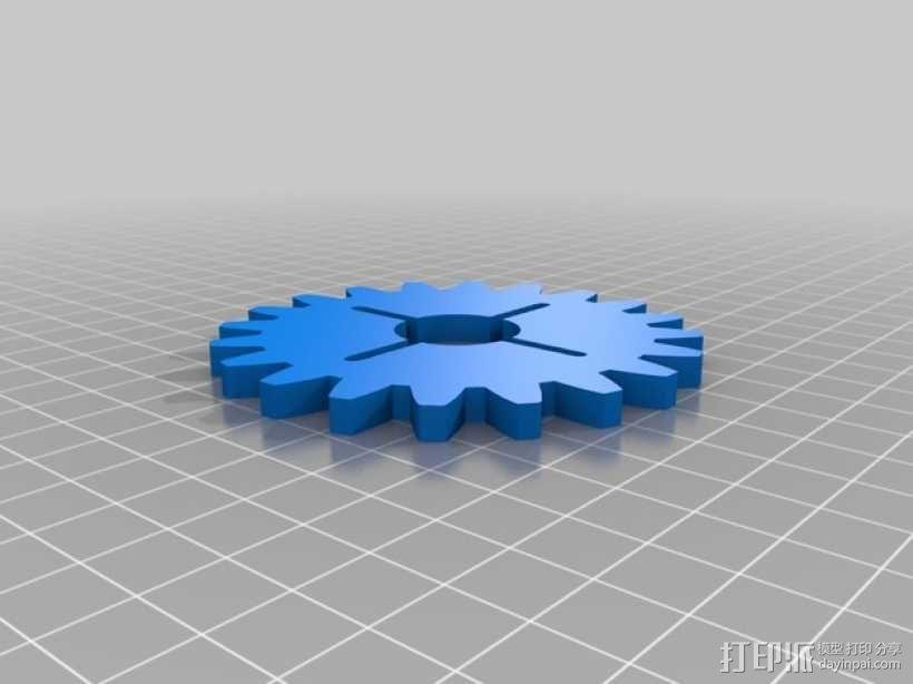 齿轮形杯垫 3D模型  图8