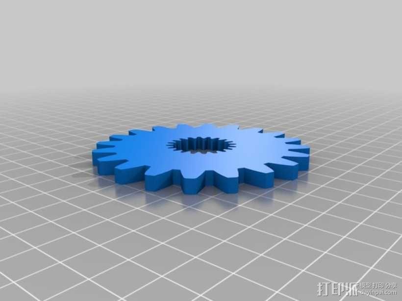 齿轮形杯垫 3D模型  图9