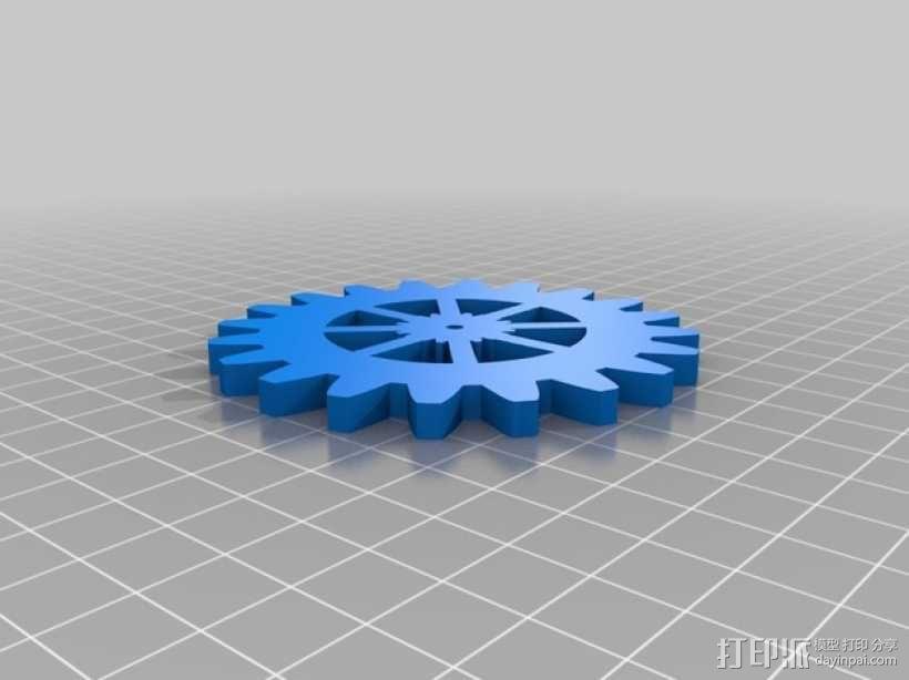 齿轮形杯垫 3D模型  图10