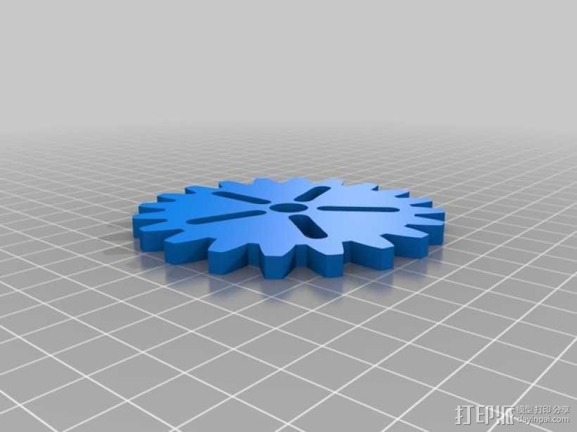 齿轮形杯垫 3D模型  图11