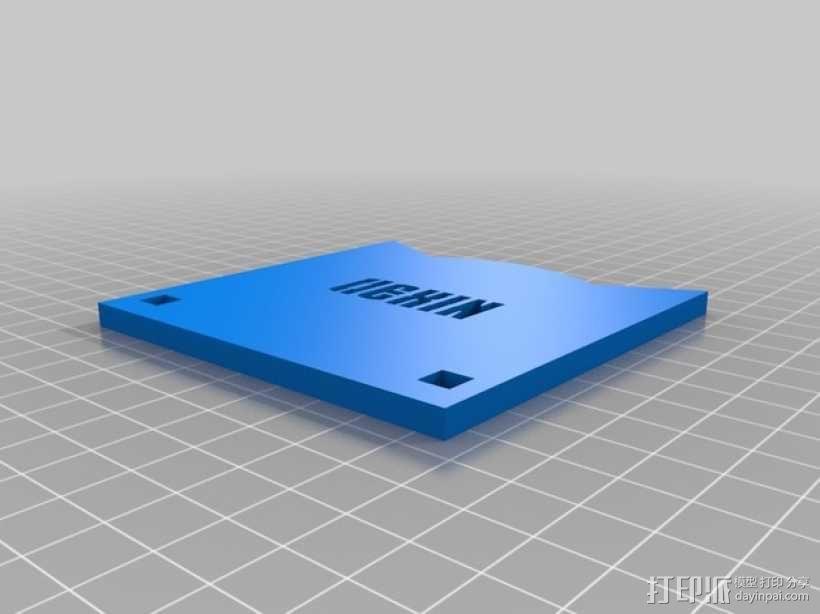 齿轮形杯垫 3D模型  图12