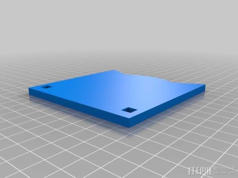 齿轮形杯垫 3D模型  图13