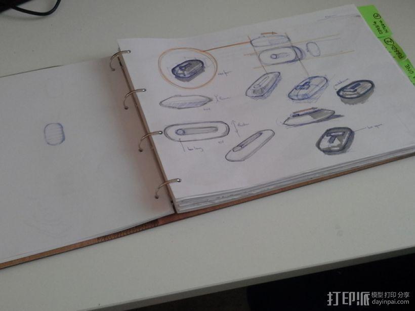 木质A3活页簿 3D模型  图4