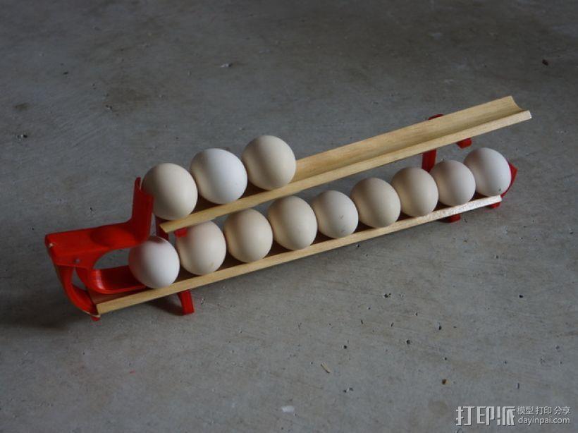 双层鸡蛋架 3D模型  图1