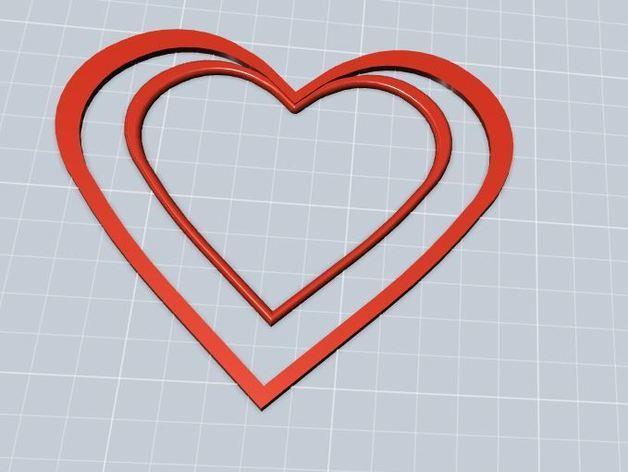 心形书签 3D模型  图3