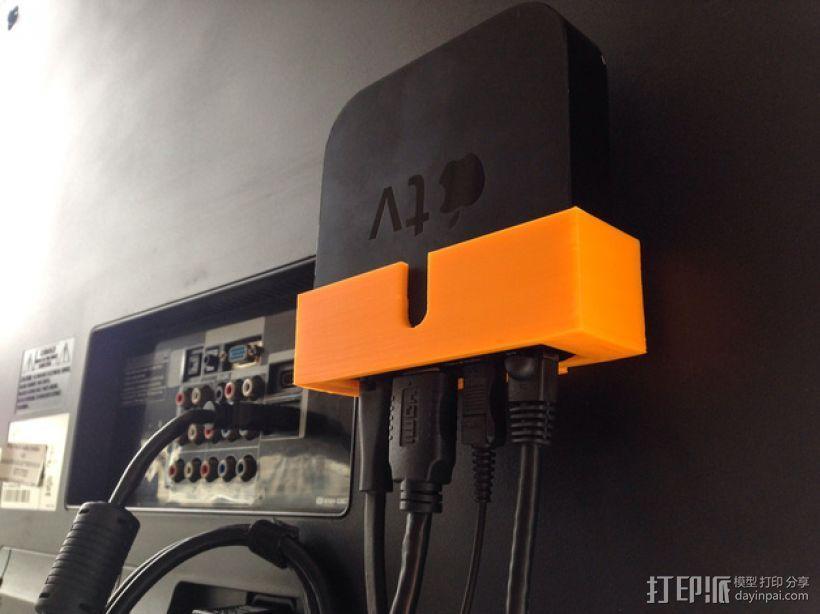 苹果电视接口 3D模型  图1
