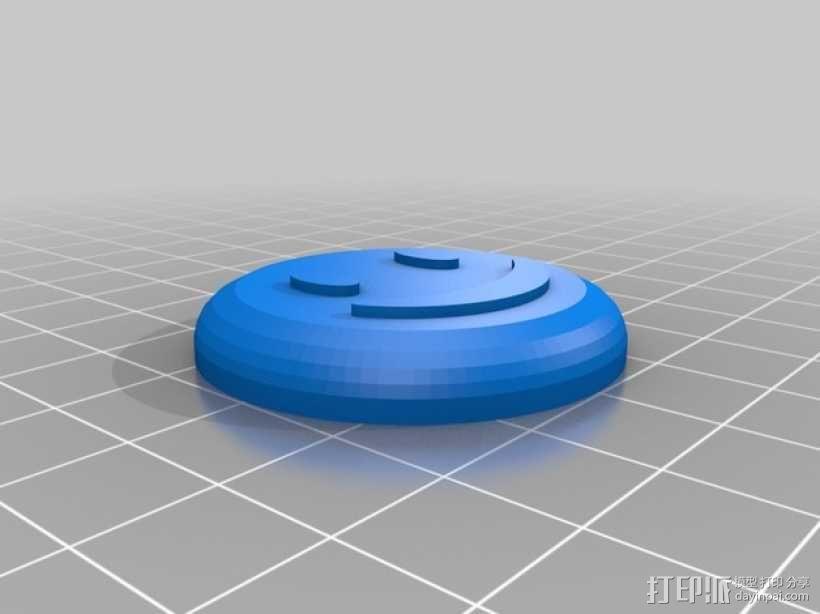 笑颜花和花盆 3D模型  图2