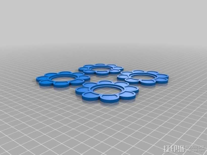 笑颜花和花盆 3D模型  图5