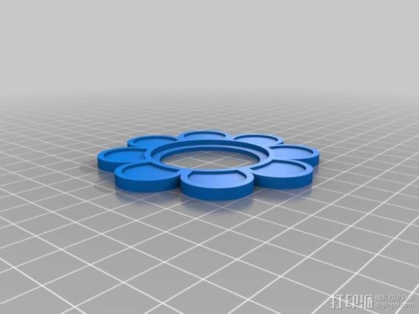 笑颜花和花盆 3D模型  图3