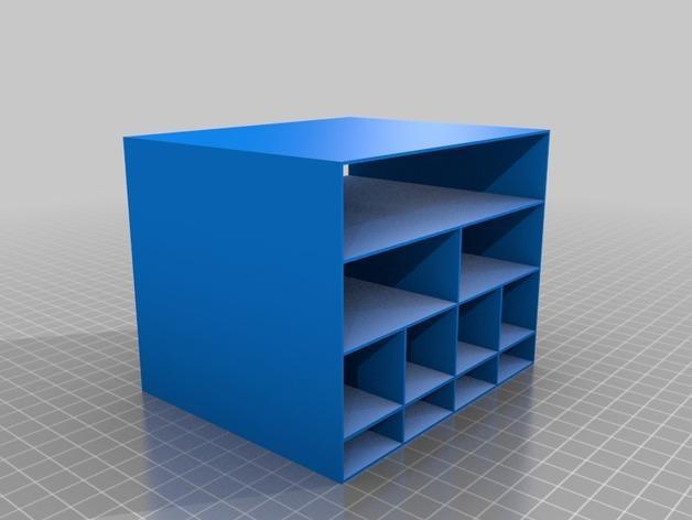 定制化迷你储物柜 3D模型  图2