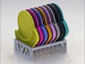 多功能杯托 3D模型