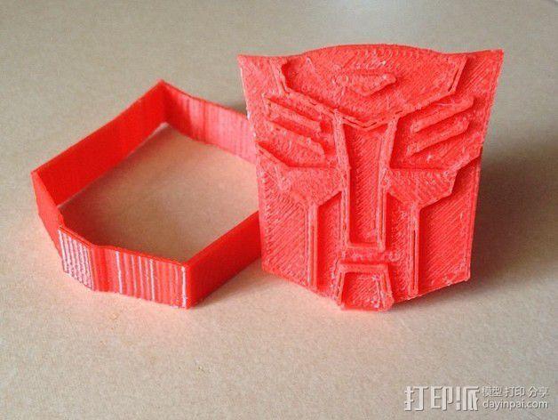 汽车人饼干模具切割刀 3D模型  图1