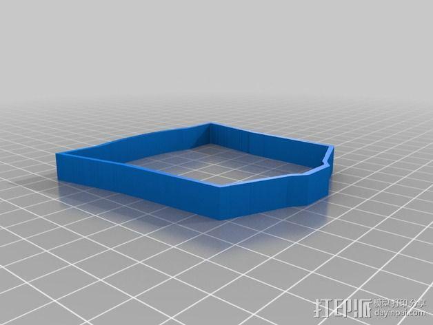 汽车人饼干模具切割刀 3D模型  图3