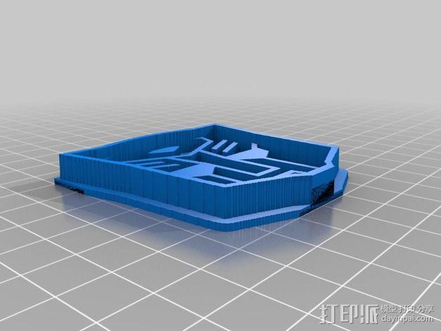 汽车人饼干模具切割刀 3D模型  图6