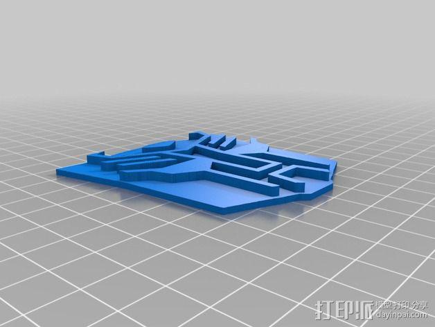 汽车人饼干模具切割刀 3D模型  图4