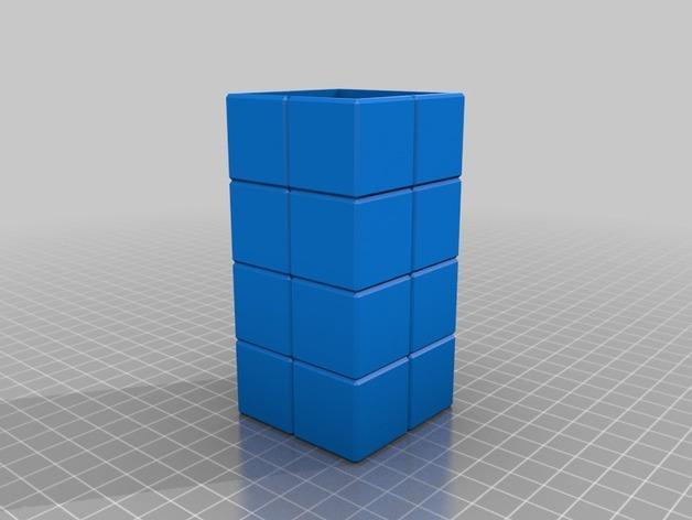 壁挂式Minecraft火炬形小夜灯 3D模型  图4