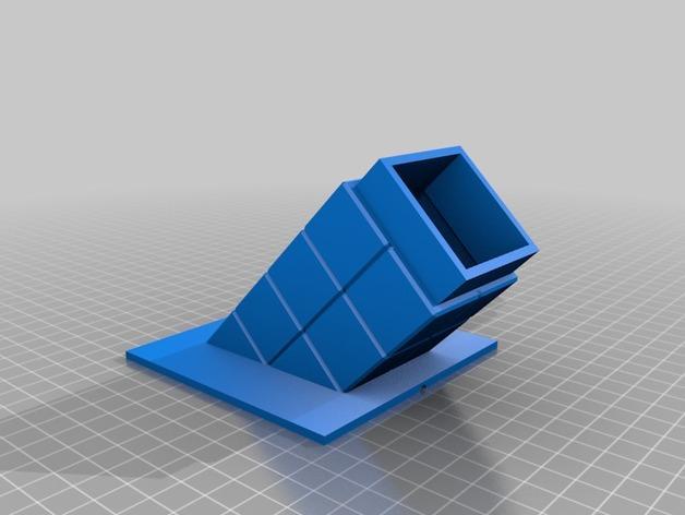 壁挂式Minecraft火炬形小夜灯 3D模型  图3