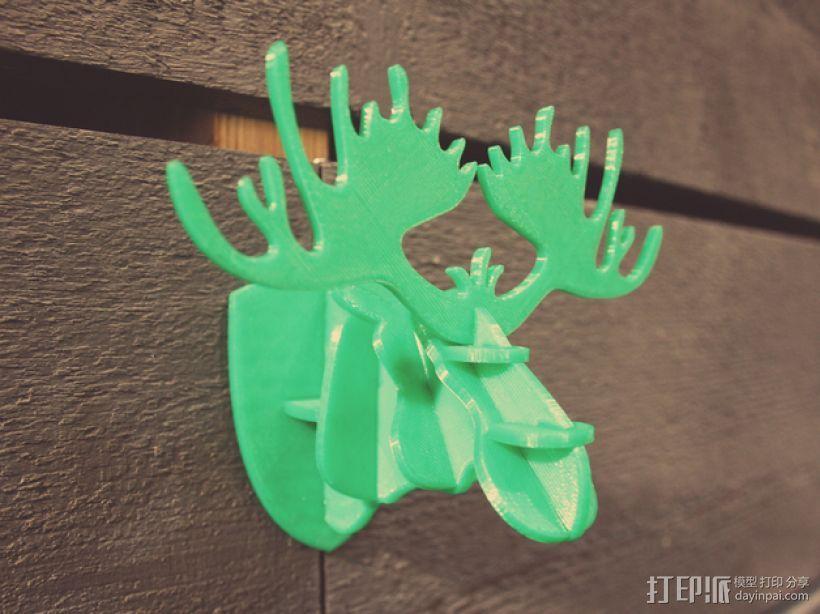 麋鹿形纪念品 3D模型  图1
