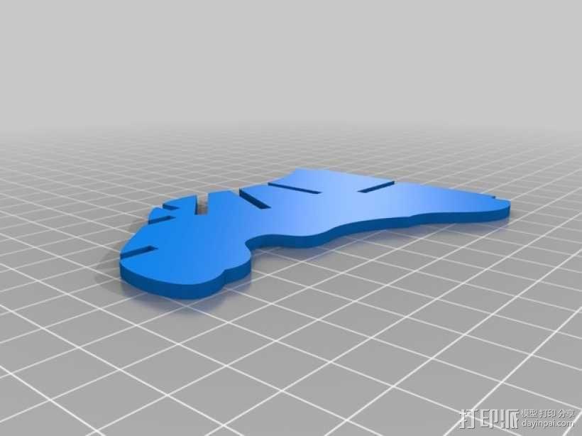麋鹿形纪念品 3D模型  图4