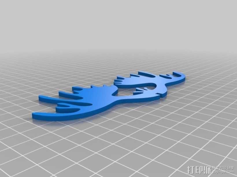 麋鹿形纪念品 3D模型  图3