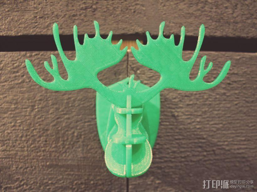 麋鹿形纪念品 3D模型  图2